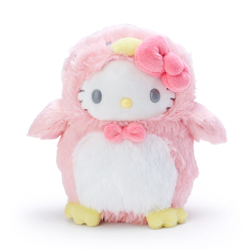 ハローキティ ぬいぐるみ ペンギン ピンク