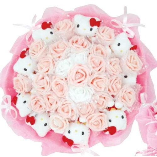 ハローキティぬいぐるみブーケ 花束 プレゼント 出産祝い 結婚祝い 誕生日プレゼント 薔薇