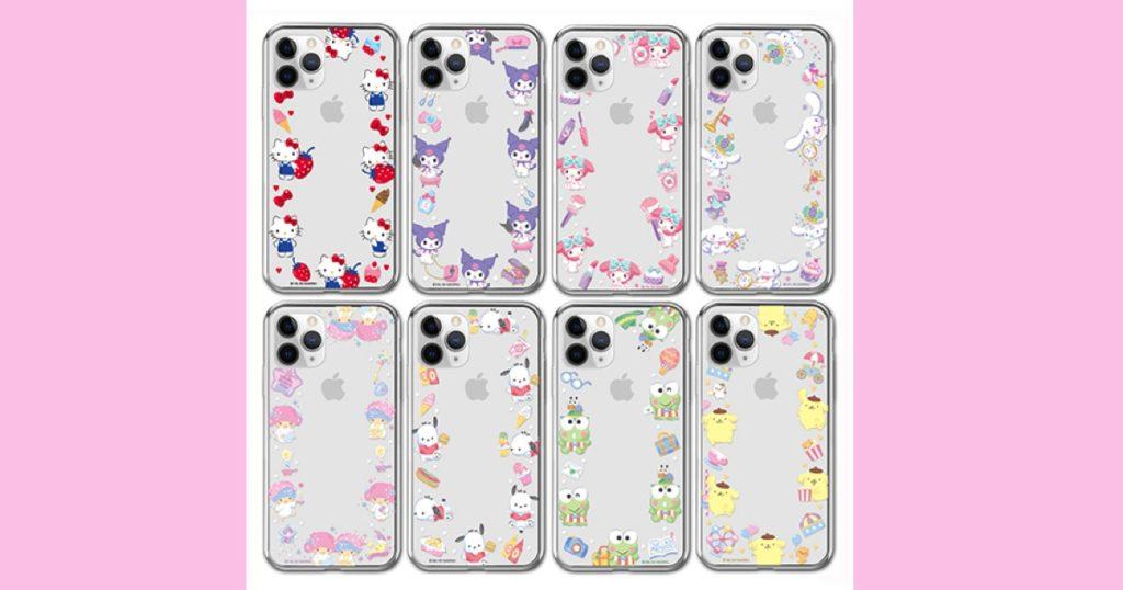 【サンリオ】iPhone/Galaxy スマホケース クリアタイプ クリアジェリー  ハローキティ・クロミ・マイメロディ・シナモロール(シナモン)・リトルツインスターズ(キキララ)・ポチャッコ・けろけろけろっぴ・ポムポムプリン