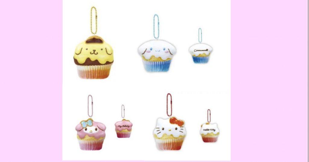 【サンリオ】もっちりカップケーキマスコット ポムポムプリン・シナモロール(シナモン)・マイメロディ・ハローキティ