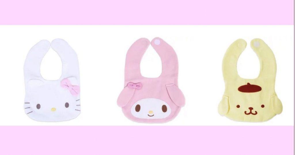 【ベビー】キャラクター スタイ【フェイスデザイン】ハローキティ・マイメロディ・ポムポムプリン