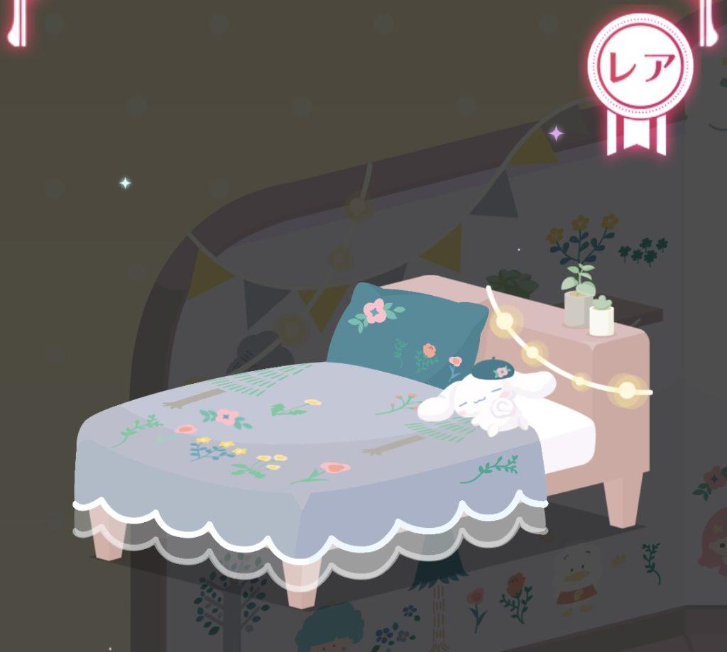 シナモロールとお昼寝を♪ナチュラル刺繍のベッド
