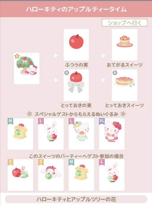 ハロスイ 花 ハローキティとアップルツリーの花