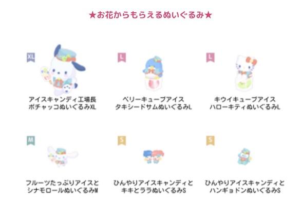 【ハロスイ・イベント】ポチャッコのアイスキャンディファクトリー(8月8日〜8月18日)お花からもらえるぬいぐるみ